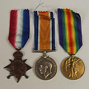 WW1 Medal 1914/15 Trio Awarded 112998 D.W. Odell 1st Class Stoker Royal Navy