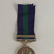 General Service Medal - Palestine 1945–48 Clasp Pte N. Mallet MX