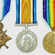 WW1 Royal Navy 1914/15 Star Medal Trio Of J. 8190. E.W.R. NORRIS.