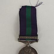 General Service Medal Palestine 1945–48 Clasp Signalman L.H. Stevens
