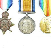 WW1 Royal Navy 1914/15 Star Medal Trio 305260. A. Ravenhill STO. 1.