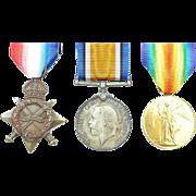 WW1 Royal Navy 1914/15 Star Medal Trio 305260. A. Ravenhill STO. 1.