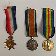 WW1 1914/15 Medal Trio Awarded To Able Seaman W. Evans R.N.