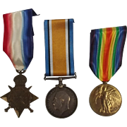 WW1 Medal Trio Awarded To Able Seaman E.J. Merchant Royal Navy