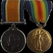 Royal Navy WW1 Medal Pair Able Seaman F.A. Felce