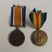 Royal Navy WW1 Medal Pair Stoker 1st Class W.E. Cook