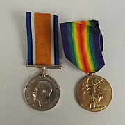 WW1 Medal Pair I. Dudley Royal Naval Volunteer Reserve