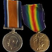 WW1 Medal Pair I. Dudley Royal Naval Volunteer Reserve