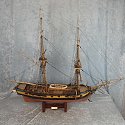 Hand Built 1/64th Scale Model Of HMS Grasshopper Cruizer Class Brig Sloop