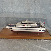 Cased Builders Model Of The Danish Catamaran The Eagle