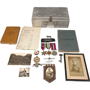 WW2 No. 640 RAF Wireless Operator Air Crew Europe Medals With Log Book Etc.