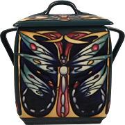 Limited Edition Moorcroft Butterfly Biscuit Barrel By Rachel Bishop
