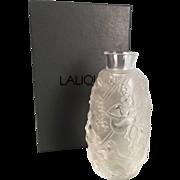 Boxed Lalique Femme Fleurs Bud Vase Circa 1998