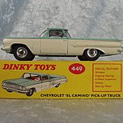 Boxed Dinky 449 Chevrolet El Camino - Unusual Variant With No Silver Detailing