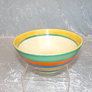 Early-Mid 1930's Clarice Cliff Original Bizarre Circular Bowl