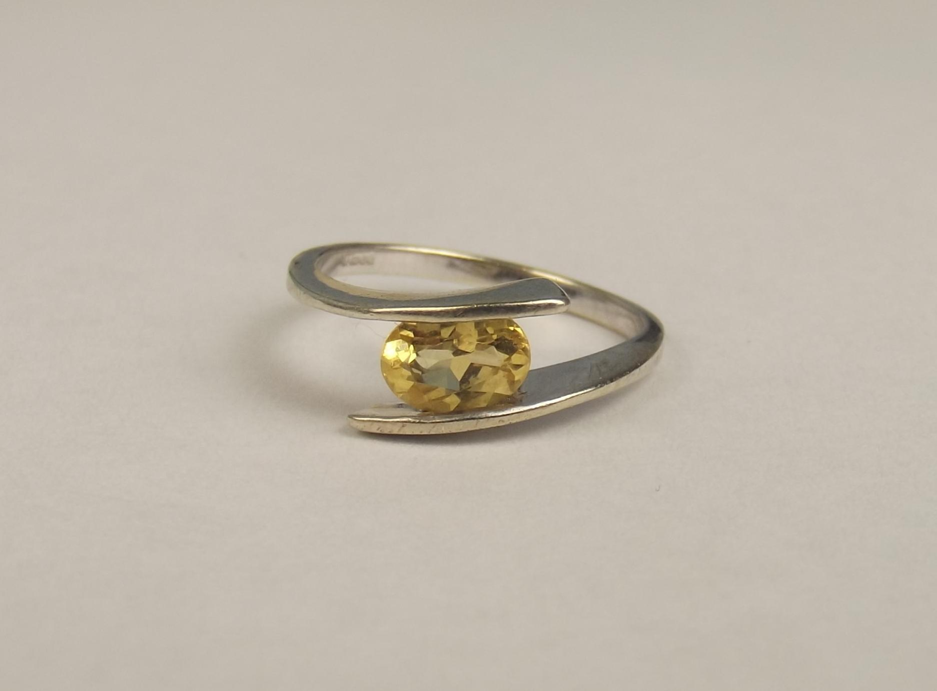 9ct white gold citrine ring uk size n us 6 190 from