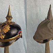 Model 1891 Oldenburg Infantry Officers Pickelhaube Helmet & Field Cover