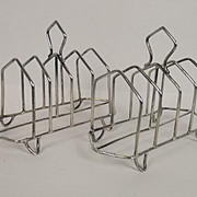 Pair Of Silver 4 Slice Toast Racks Birmingham 1903
