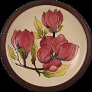 Framed Moorcroft Magnolia Pattern Charger