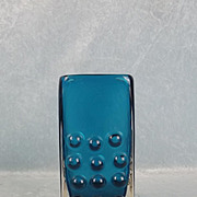 Geoffrey Baxter For Whitefriars Kingfisher Blue Mobile Phone Glass Vase