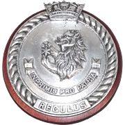 HMS Regulus Algerine Class Minesweeper Steel Dress Tompion