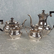 Heavy 1988 Four Piece Silver Coffee & Tea Set