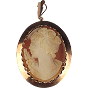 9ct Rose Gold Cameo Brooch Pendant