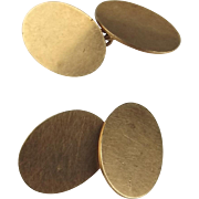 1960 9ct Yellow Gold Pair Of Cufflinks
