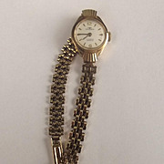 Ladies Technos 9ct Gold 17 Jewels Wristwatch