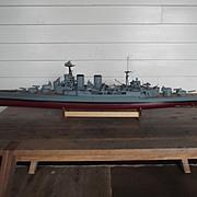 HMS Hood Scratch Built Electric Powered Model