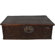 Early 18th Century Oak Bible Box
