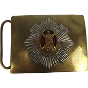 The Royal Scots Black Watch Cross Belt Plate