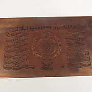 The Lancashire Fusiliers Letterhead Printing Plate