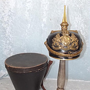 Model 1860 German Bavarian Officers Pickelhaube And Case