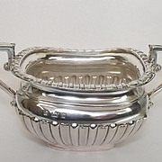 Victorian 1896 Dated Sterling Silver Sugar Bowl