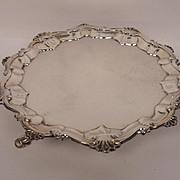 Three Footed Silver Salver Hallmarked Joseph Cullen London 1771