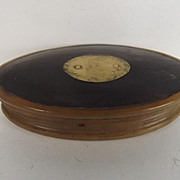 Georgian Cow Horn Oval Snuff Box