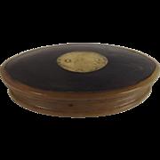 Georgian Cow Horn Oval Snuff Box