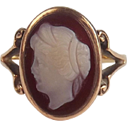 9ct Yellow Gold Cameo Ring UK Size M US 6