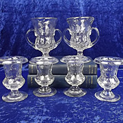 Circa 1930 Set Of Six Royal Brierley Glass Vases By Constance Spry