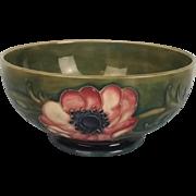 William Moorcroft Anenome Pattern Bowl 1928 - 1949