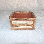 Circa 1900 Native American Porcupine Quill Box