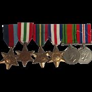 WW2 Medal Set Of 6 Medals