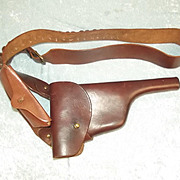WW1 1915 Dated Mauser C96 Leather Holster And Belt