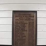 German World War 1 War Memorial Plaque