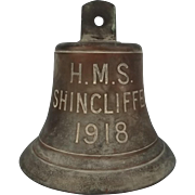 HMS Shincliffe Paddle Steamer Bronze Ships Bell 1918