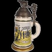 German Munchen Regimental Commemorative Beer Stein