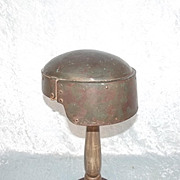 WW1 Italian Machine Gun Corps Farina Steel Helmet ~