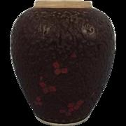 19th Century Japanese Bark Effect Vase