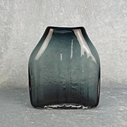 Circa 1970 Geoffrey Baxter For Whitefriars Indigo Glass Shoulder Vase